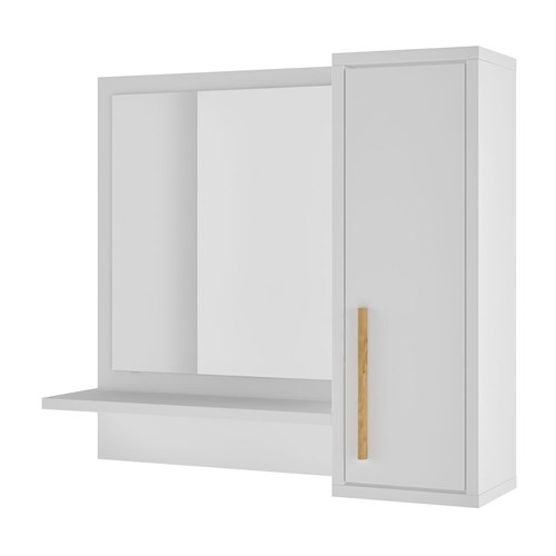 Espelheira 1 Porta 07 Versa Brv Móveis Branco