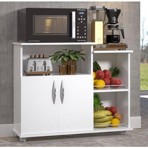 Tudo sobre 'Armário Microondas Multiuso Cozinha Bebedouro Branco'
