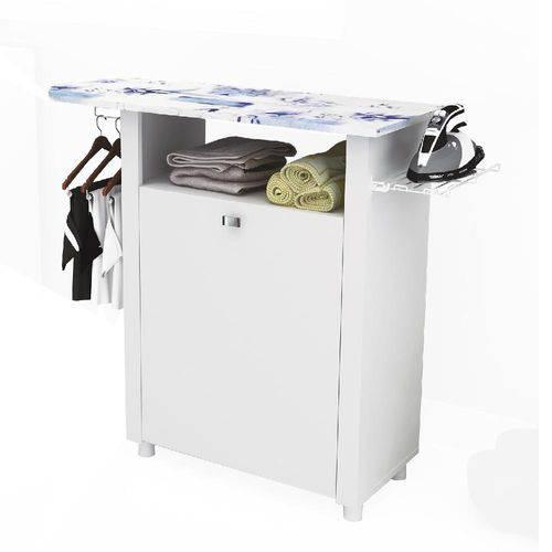 Armário Multiuso com Tabua de Passar MDP 1 Porta TP3020.0001 Branco - Tecno Mobili