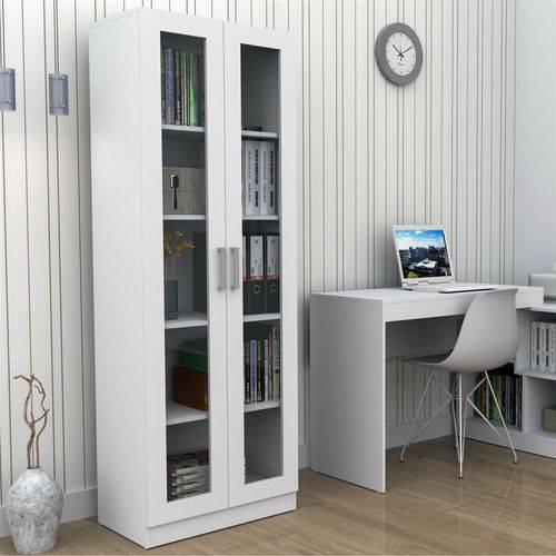 Tudo sobre 'Armário para Escritório com Portas de Vidro Office Plus Appunto - Branco'