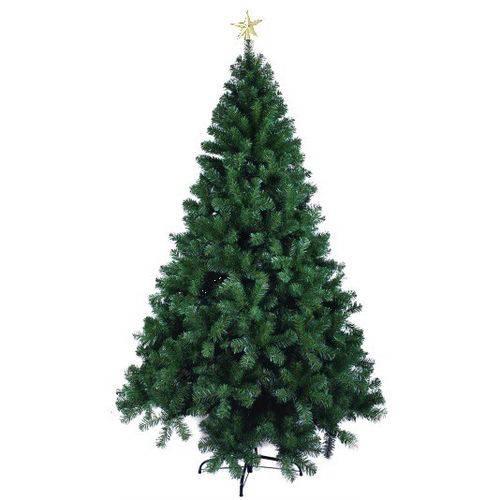 Árvore Natal Dinamarca Verde 2,1m 860 Galhos com Ponteira - Magizi