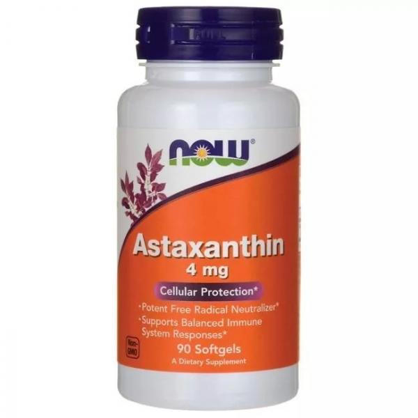 Astaxanthin 4 Mg - 90 Cápsulas- Now Foods