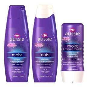 Aussie Kit Shampoo + Condicionador + Tratamento 3 Minutos