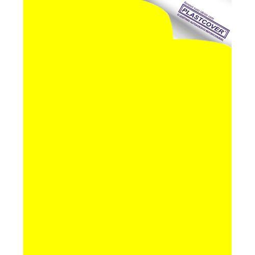 Autoadesivo Plastcover Colorido Liso Opaco Amarelo 45CM X 10M