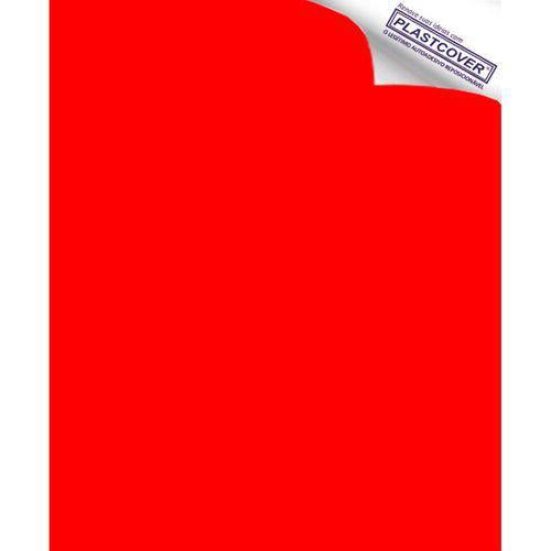 Autoadesivo Plastcover Colorido Liso Opaco Vermelho 45CM X 10M
