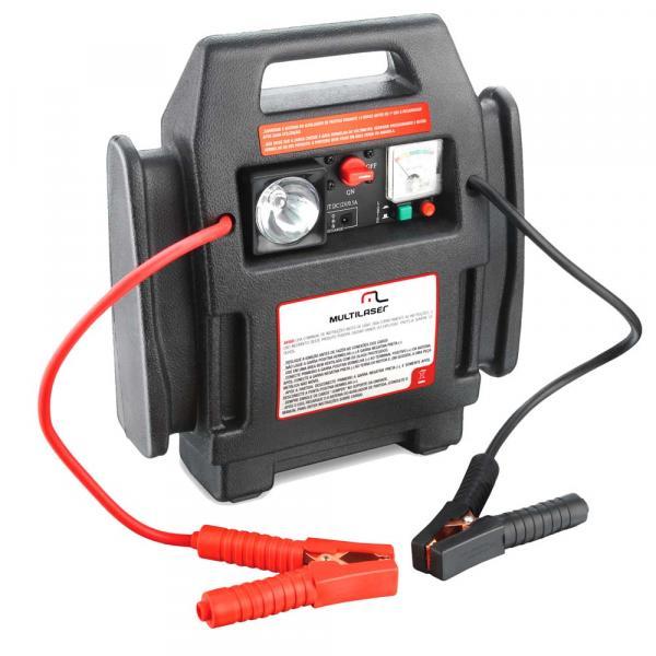 Auxiliar de Partida / KIT de Emergência 4 em 1 Multilaser AU602 (Auxiliador de Partida, Compressor de Ar, Tomada e Lanterna) - Preto - Multilaser