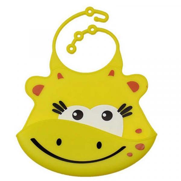 Babador de Silicone Girafa Amarelo - Multikids Baby - Multilaser