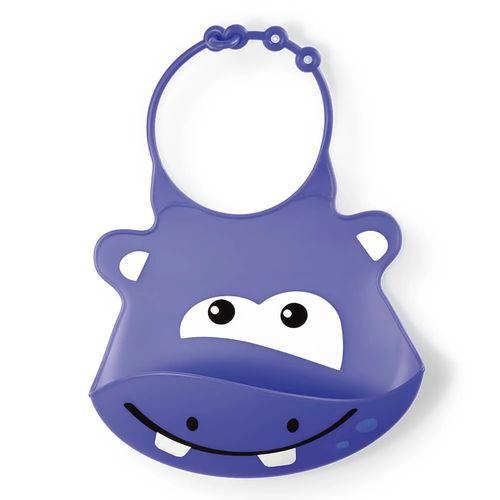 Babador de Silicone Hipopótamo Multikids