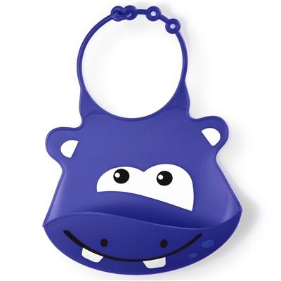 Babador de Silicone SillyBib Hipopótamo BB044 - Multikids