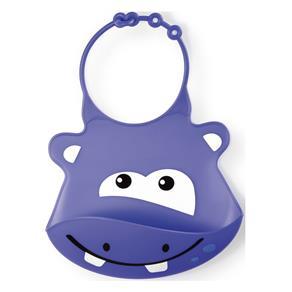 Babador de Silicone SillyBib Hipopótamo