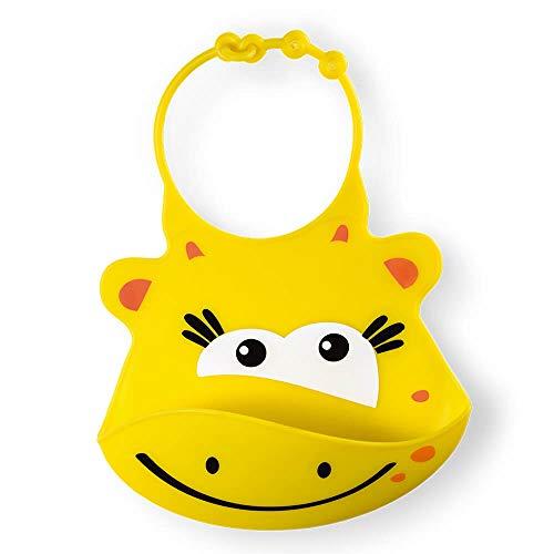 Babador de Silicone Silybib Girafa, Multikids Baby, Amarelo
