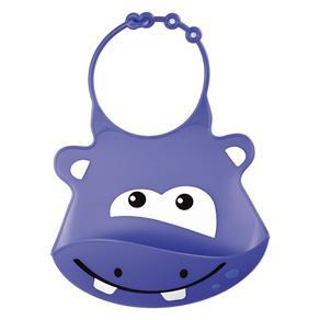Babador de Silicone Silybib Hipopótamo