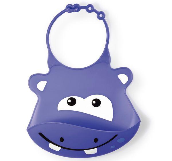 Babador em Silicone Sillybib Hipopótamo - Multikids Baby