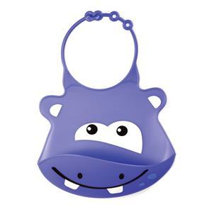 Babador Multilkids Baby Silicone Hipopótamo - Roxo