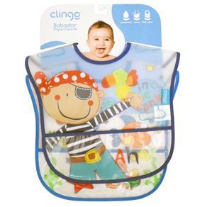 Babador para Bebê Impermeável com Bolso Clingo - Masculino 2 UN
