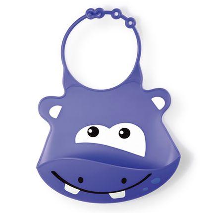 Babador para Bebe Sillybib Hipopótamo - Multikids Baby