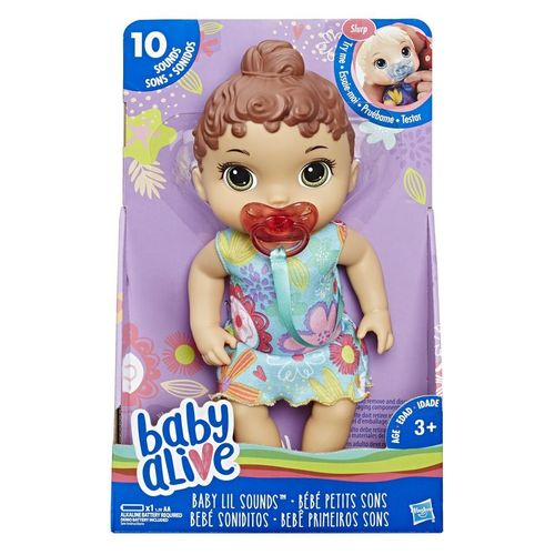 Baby Alive Bebê Primeiros Sons Morena - Hasbro
