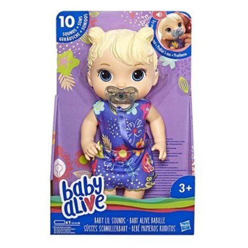Baby Alive Boneca Primeiros Sons Hasbro Loira E3690