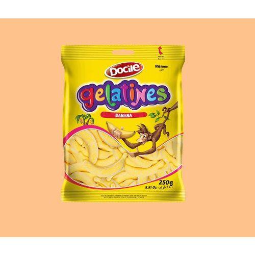Bala de Gelatina Banana (250g) - Docile