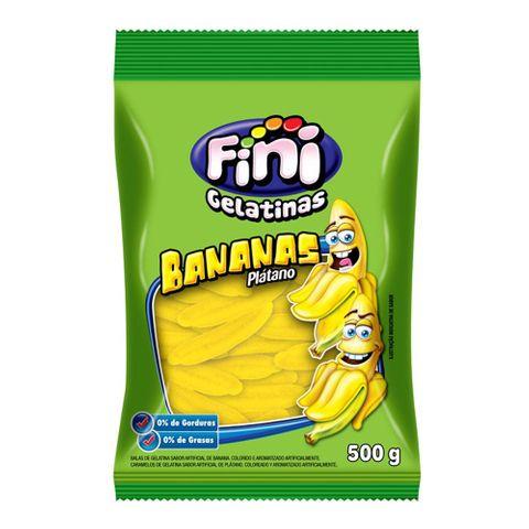 Bala de Gelatina Bananas 500g - Fini