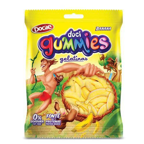 Bala de Gelatina Gummies Banana 300g - Docile
