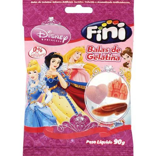 Tudo sobre 'Bala de Gelatina Princesas 90g - Fini'