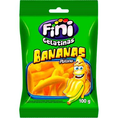 Bala Gelatina Fini Banana 100g