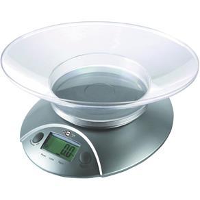 Balança de Cozinha Digital 5Kg Cinza Brasfort - Branco