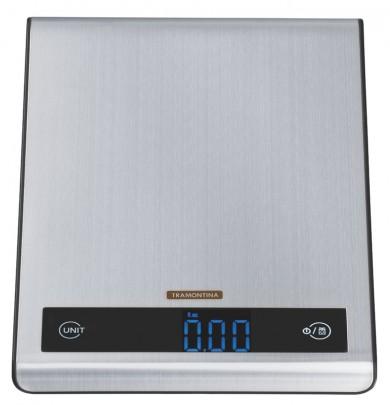 Balança Digital Aco Inox Tramontina para Cozinha 5 Kg
