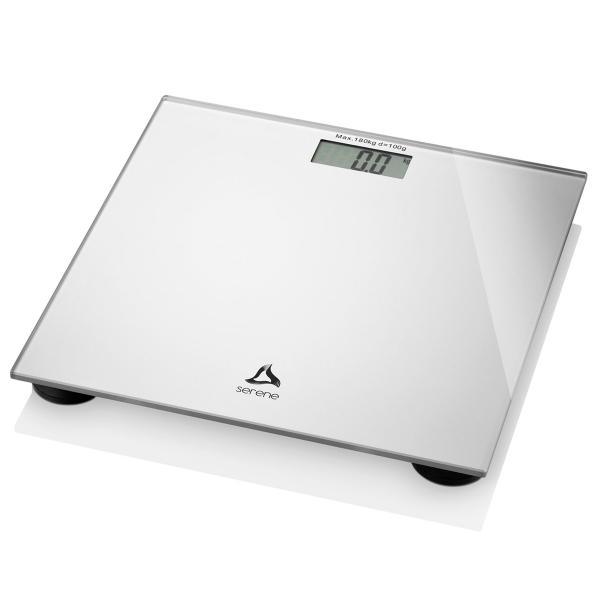 Balança Digital Até 180kg Display Lcd Prata Hc021 Serene