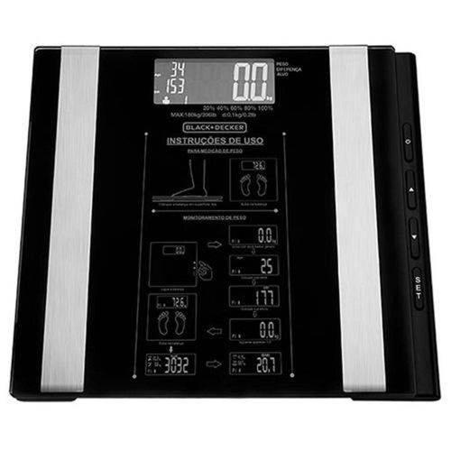 Tudo sobre 'Balança Digital com Capacidade para 180 Kg / 100 Gramas à Bateria - Bk55 - Black Decker'