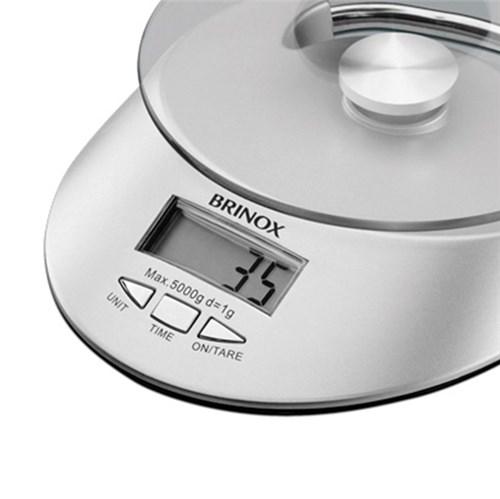 Balança Digital com Relógio para Cozinha 3kg 2923/100 - Brinox