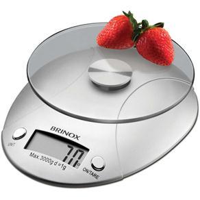 Balança Digital de Cozinha Brinox 3kg em ABS