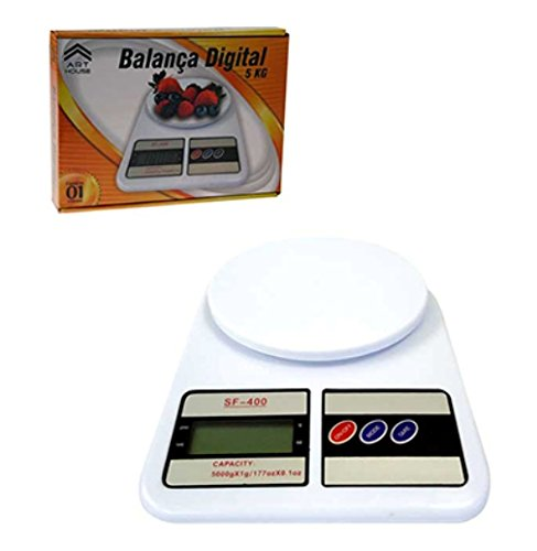 Balança Digital Multiuso Alta Precisão Capacidade 1kg Á 5kg