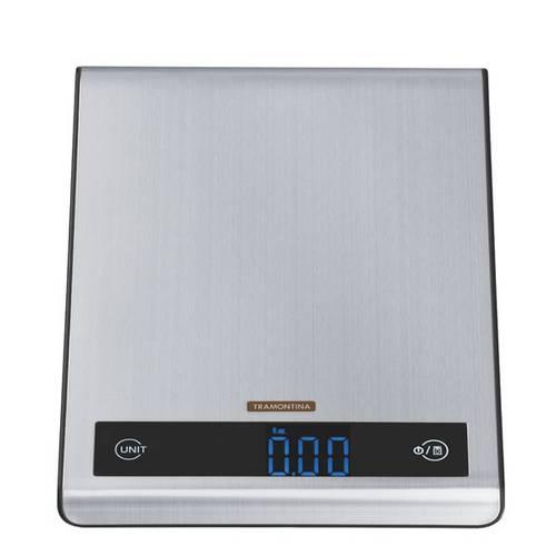 Balança Digital para Cozinha em Aço Inox Capacidade 5 Kg - Tramontina