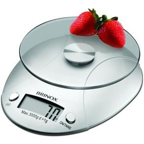 Balança Digital para Cozinha 3 Kg 15 X 18,5 X 4 Cm