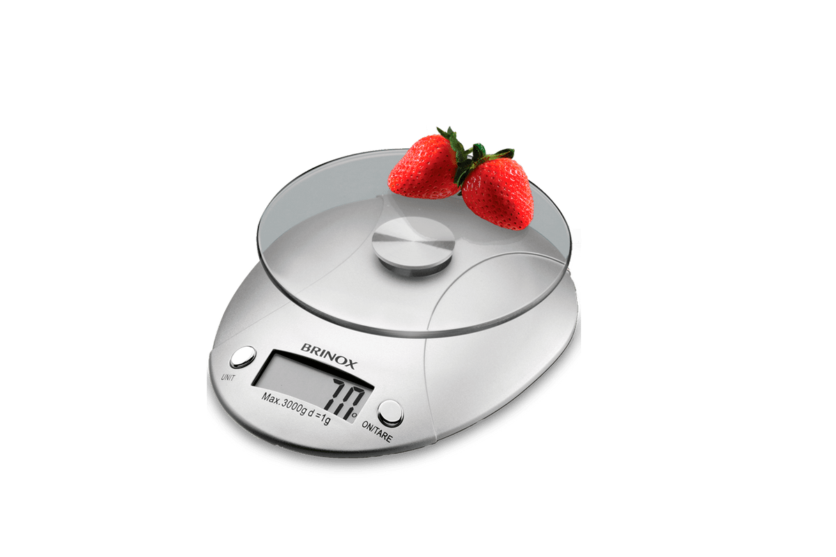 Balança Digital para Cozinha 3 Kg - Balanças 15 X 18,5 X 4 Cm