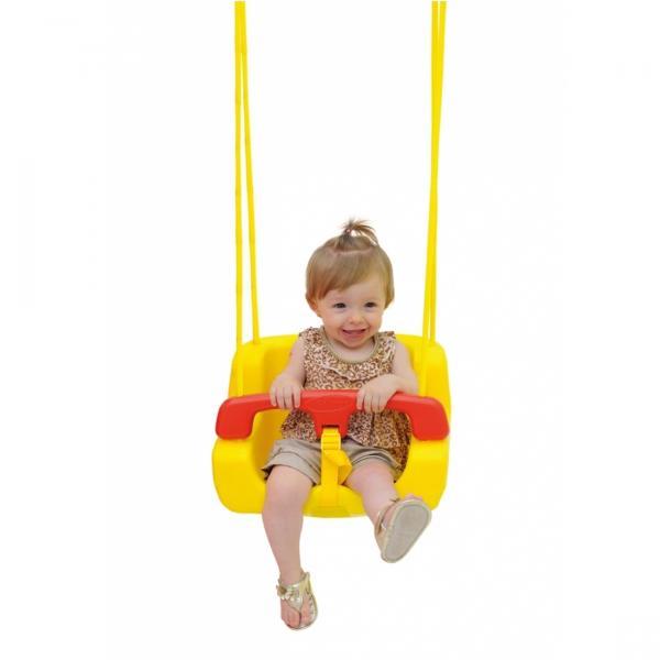 Balanço Infantil em Plástico Amarelo/Vermelho 02876 - Xalingo - Xalingo