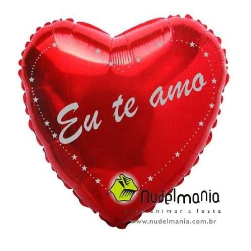 """Balão eu te Amo 20"""" - Metalizado - Unidade"""