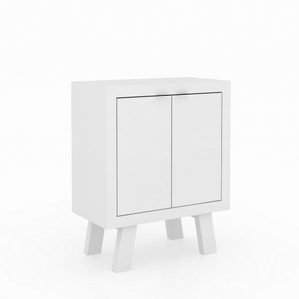 Balcão Baixo Branco com 2 Portas - Tecno Mobili