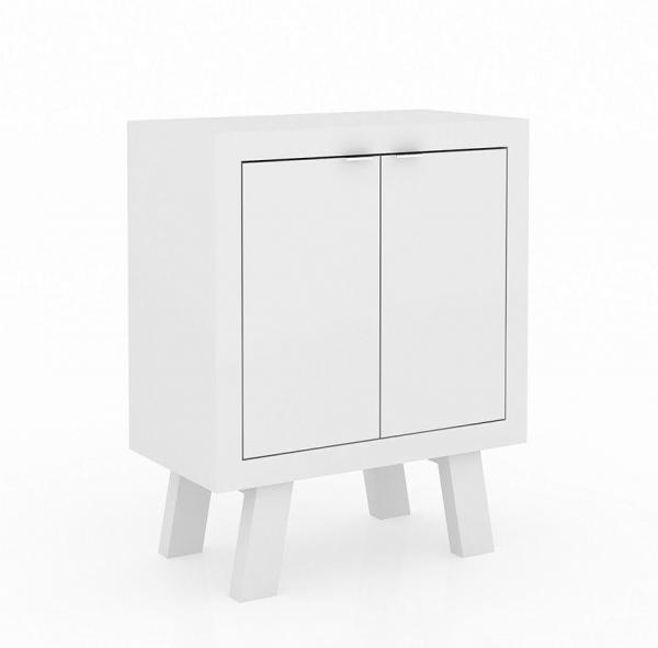 Balcão Baixo com 02 Portas ME4126 Branco - Tecno Mobili