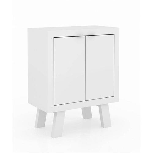 Balcão Baixo Me4126 2 Portas Branco Tecno Mobili