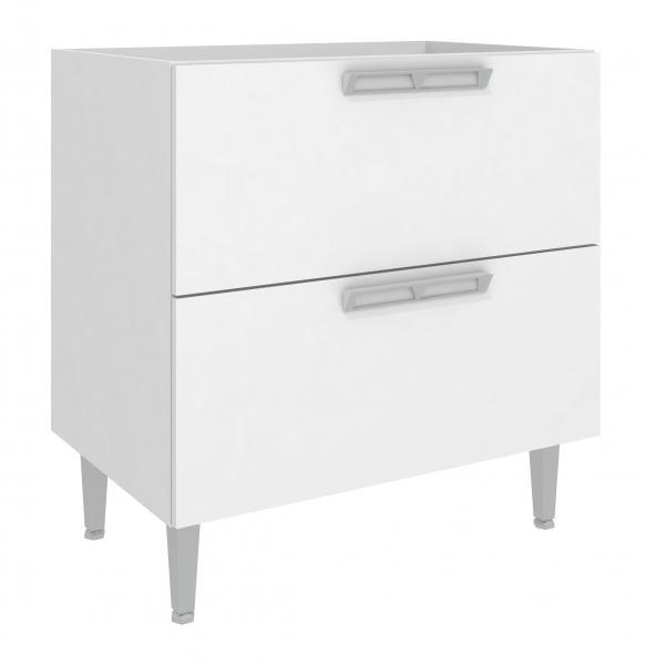 Balcão com 2 Gavetões - 80x83 (Branco) - Art In Móveis