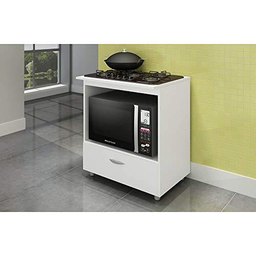 Balcão Completa Móveis Bl 150 para Cooktop e Microondas Branco