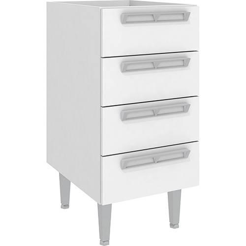 Balcão de Cozinha Art In Móveis Cz601 4 Gavetas - Branco