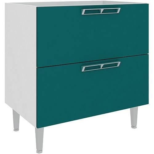 Balcão de Cozinha Art In Móveis CZ616 2 Gavetões - Branco/Verde