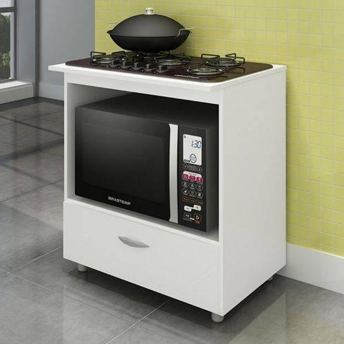 Balcão de Cozinha Cooktop e Forno Bl 150 Branco - Completa Móveis