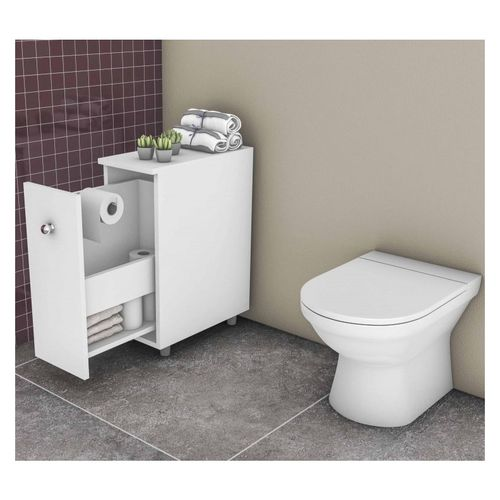 Balcão para Banheiro 1 Gaveta BCM116 Branco - MovelBento