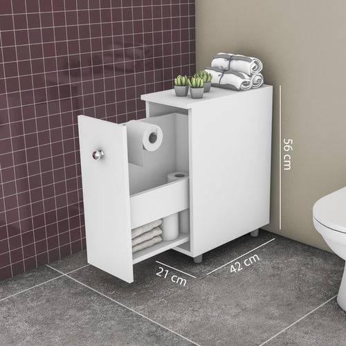 Balcão para Banheiro 1 Porta - Branco