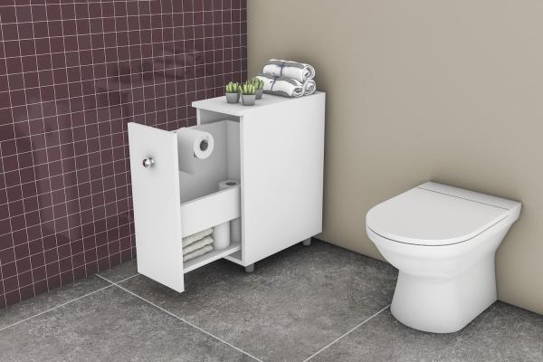 Balcão para Banheiro Branco - Movelbento